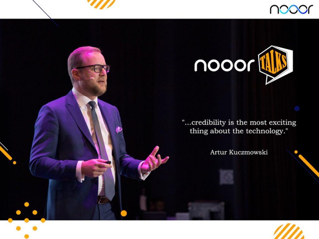 Artur Kuczmowski answering questions for Nooor Talks